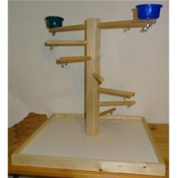 Wood Play Stand Medium with Cups
