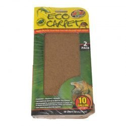"""Zoo Med Reptile Cage Carpet (10 - 20 Gallon Tanks - 24"""" Long x 12"""" Wide (2 Pack))"""