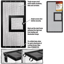 Zilla Fresh Air Screen Cover with Hinged Door 24X12