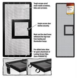 Zilla Fresh Air Screen Cover with Hinged Door 36X12