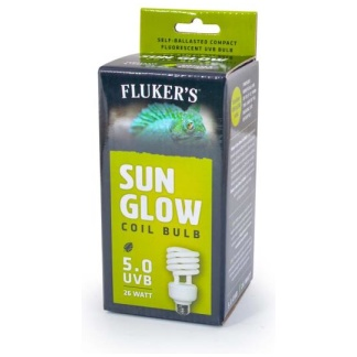Flukers Sun Glow Coil Bulb Tropical 5.0 UVB 26W