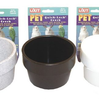Lixit Quick Lock Crock Assorted Colors (10oz)