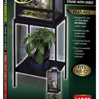 Zoo Med ReptiBreeze Stand with Shelf Medium