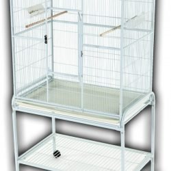 "Flight Cage & Stand-Blue (32""x21""x63"")"