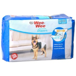 "Four Paws Wee Wee Diapers for Dogs (12 Pack - Large (Dogs 35-45 lbs with 20""-27"" Waist))"