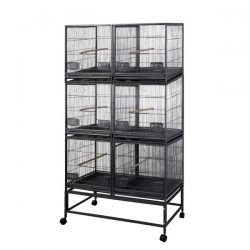 Six (6) Unit Breeder Cage with Dividers (Black)