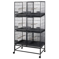 Six (6) Unit Breeder Cage with Dividers (White)